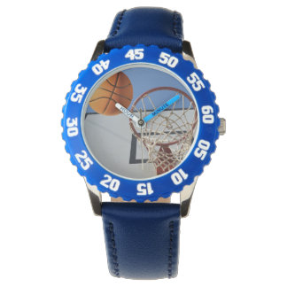 Basketball_Scoring_Point_Kids_Blue_Numbered_Watch. Handuhr