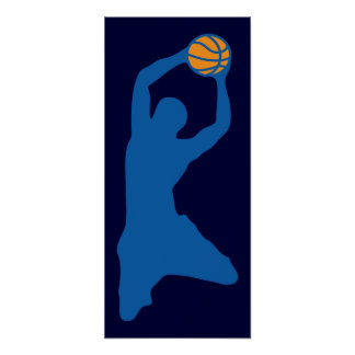 Basketball-Silhouette Poster