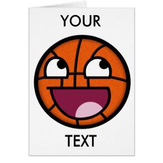 Basketball-Smiley Karte