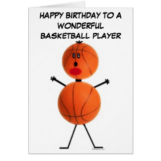 Basketball-Spieler-Geburtstags-Karte Grußkarte