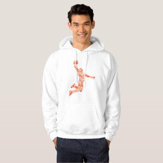 Basketball-Spieler-Knall-Symbologie Hoodie