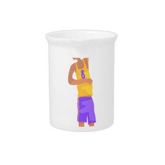 Basketball-Spieler mit dem Ball-Aktions-Aufkleber Getränke Pitcher