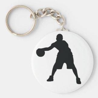 Basketball-Spieler Standard Runder Schlüsselanhänger