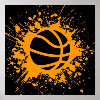 Basketball splatz poster