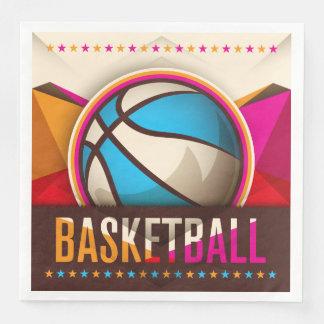 Basketball-Sport-Ball-Spiel-cooles abstraktes Papierserviette