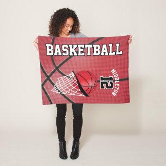 Basketball-Sport-Entwurf im Rot Fleecedecke