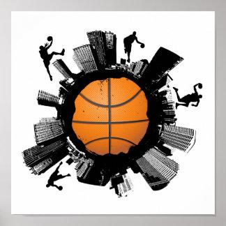 Basketball-Stadt Plakate