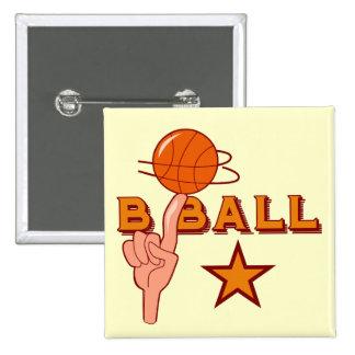 Basketball-Stern-T - Shirts und Geschenke Buttons