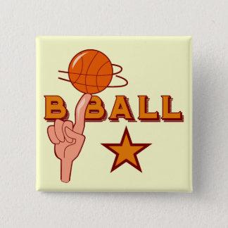Basketball-Stern-T - Shirts und Geschenke Quadratischer Button 5,1 Cm