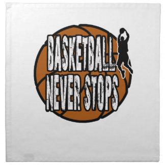 Basketball stoppt nie stoffserviette