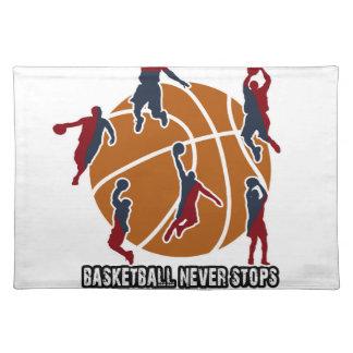 Basketball stoppt nie tischset