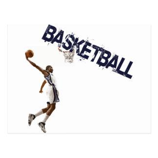 Basketball tauchen ein postkarte