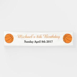 Basketball trägt orange Geburtstag zur Schau Banner
