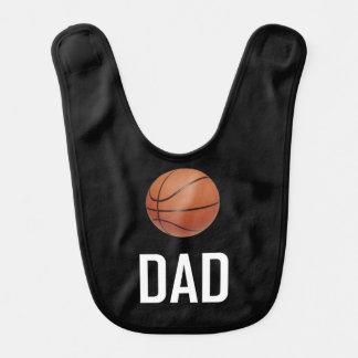 Basketball trägt Vati zur Schau Lätzchen