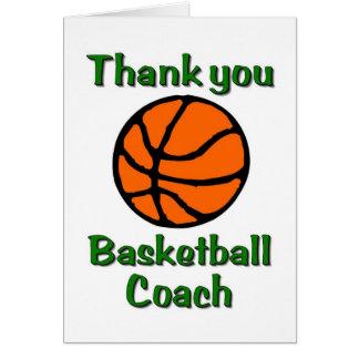 Basketball-Trainer danken Ihnen zu kardieren Grußkarten
