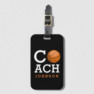 Basketball-Trainer-individueller Name Kofferanhängern
