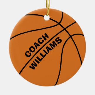 Basketball-Trainer Keramik Ornament