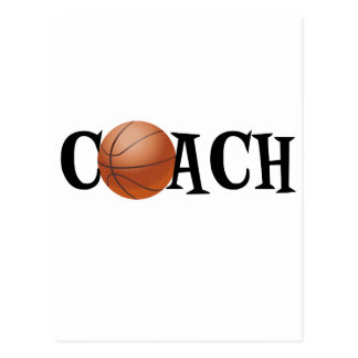 Basketball-Trainer Postkarte