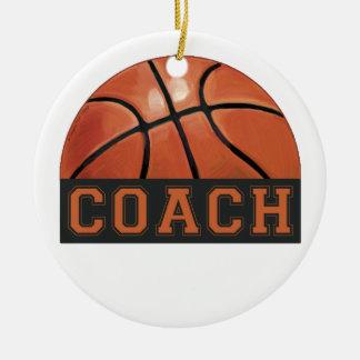 Basketball-Trainer Rundes Keramik Ornament