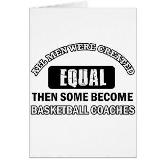 Basketball-Trainers-Jobentwürfe Karte