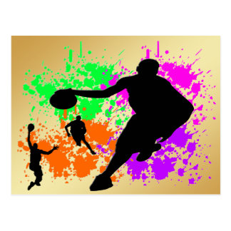 Basketball-Träume Postkarte