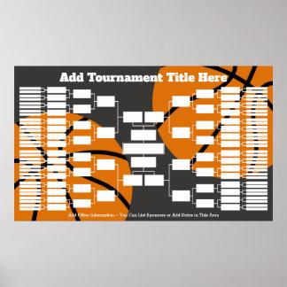 Basketball-Turnier-Klammer - 64 Teams Poster