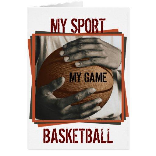 BASKETBALL-UMARMUNG - MEINE SPORT-KARTE