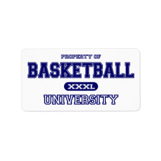Basketball-Universität Adressaufkleber