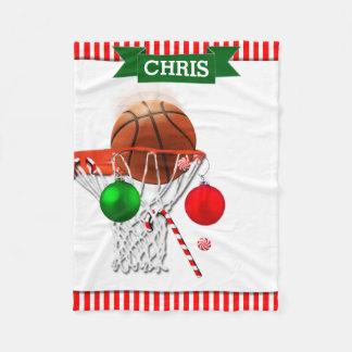 Basketball Weihnachten Fleecedecke