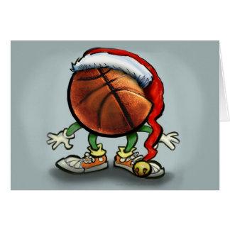 Basketball-Weihnachten Karte