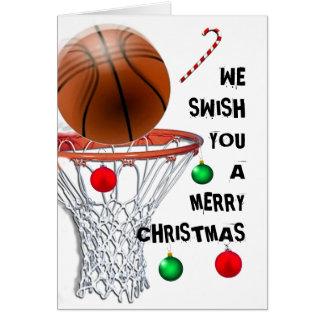 Basketball-Weihnachtsfeiertags-Karten Karte