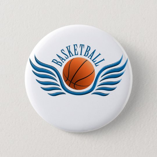 basketball wings runder button 5,7 cm