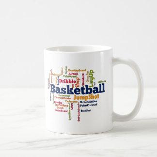 Basketball-Wort-Wolke Tasse