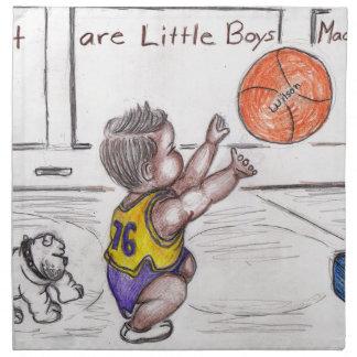 Basketballer Stoffserviette