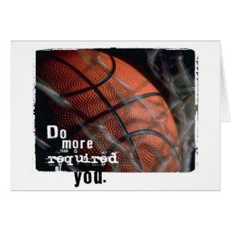 Basketballermutigung Karte