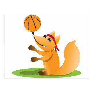 Basketballfuchs Postkarte