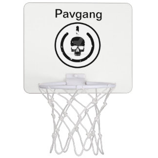 Basketballkorb mit pavgang und Logo auf ihm Mini Basketball Ring