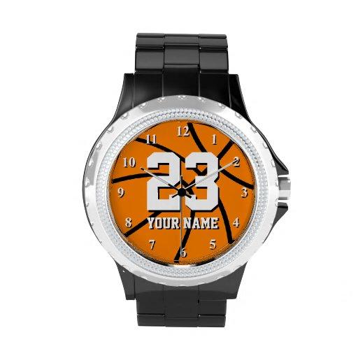 Basketballuhr mit kundenspezifischer Zahl und Name Uhren