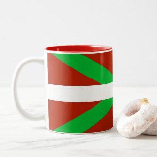 Baskische Flagge Ikurrina Kaffee-Tasse Zweifarbige Tasse