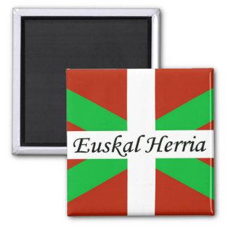 Baskische Flagge mit Euskal Herria Magneten Quadratischer Magnet
