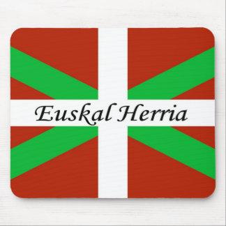 Baskische Flagge mit Euskal Herria Mausunterlage Mauspads