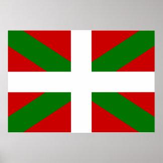 Baskische Flagge Poster