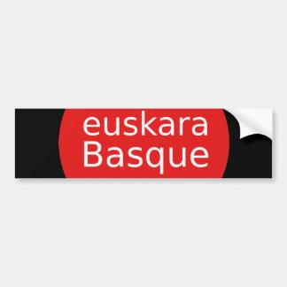 Baskische Sprachentwurf Autoaufkleber