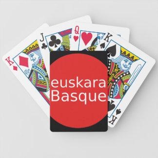 Baskische Sprachentwurf Bicycle Spielkarten