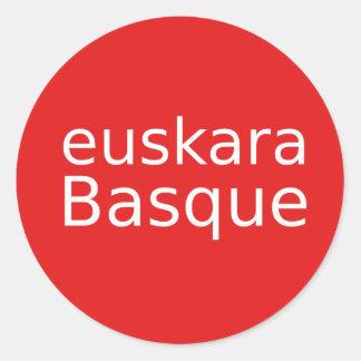 Baskische Sprachentwurf Runder Aufkleber