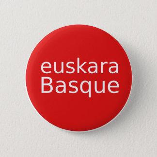 Baskische Sprachentwurf Runder Button 5,7 Cm