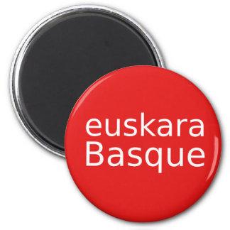 Baskische Sprachentwurf Runder Magnet 5,7 Cm