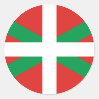 Baskischer Flaggen-Aufkleber Runder Aufkleber