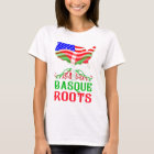 Baskisches amerikanisches Wurzel-T-Stück T-Shirt