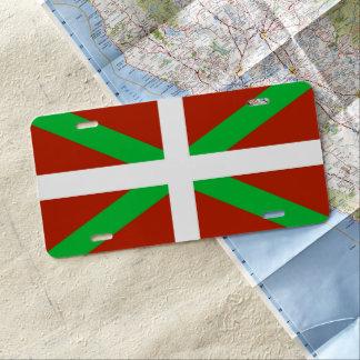 Baskisches Flagge Ikurrina Kfz-Kennzeichen US Nummernschild